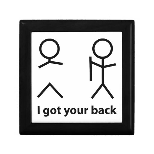 I Got Your Back! Trinket Box