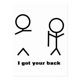 I got your back postcard