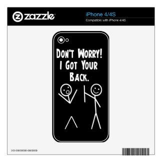 I got your back - Stick Figure Legends iPhone 4S Decals