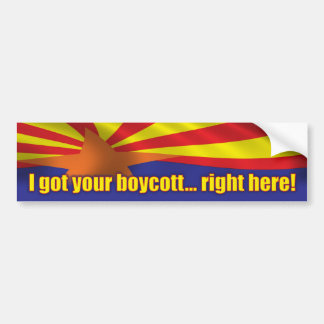 I got your boycott... right here! - Support SB1070 Car Bumper Sticker