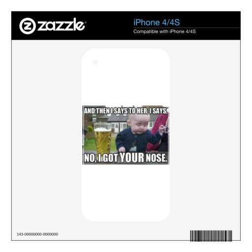 I got your nose iPhone 4 decal