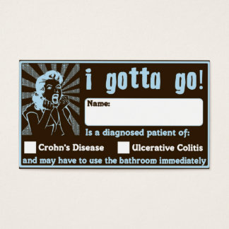 I Gotta Go! Great Bowel Movement Wallet Card