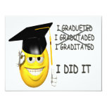 I Graduated 4.25x5.5 Paper Invitation Card