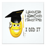 I Graduated 5.25x5.25 Square Paper Invitation Card