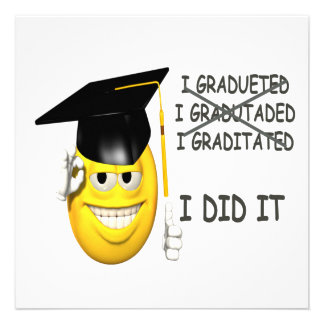 I Graduated Personalized Announcements