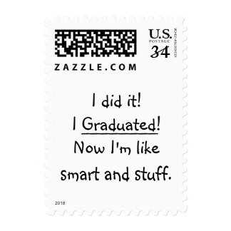 I Graduated Smart Funny Graduation Day Quote Grad Postage
