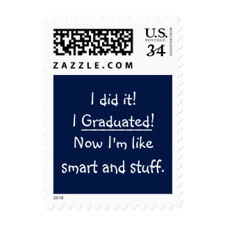 I Graduated Smart Grad Funny Graduation Day Quote Postage