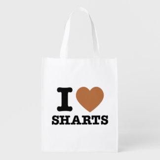 I gráfico divertido de Sharts del corazón Bolsa Para La Compra