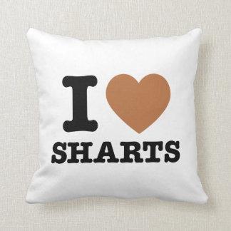 I gráfico divertido de Sharts del corazón Cojín Decorativo
