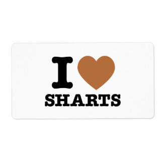 I gráfico divertido de Sharts del corazón Etiqueta De Envío