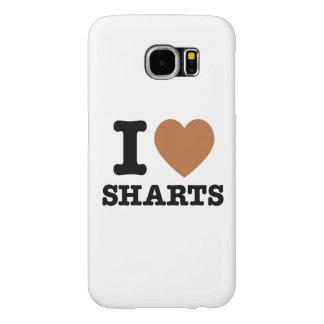 I gráfico divertido de Sharts del corazón Funda Samsung Galaxy S6