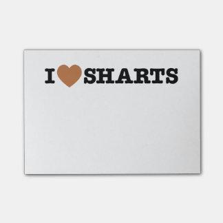 I gráfico divertido de Sharts del corazón Post-it® Nota
