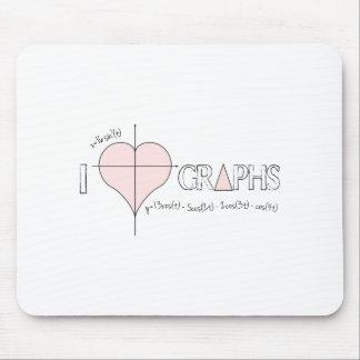 I gráficos del corazón mouse pad