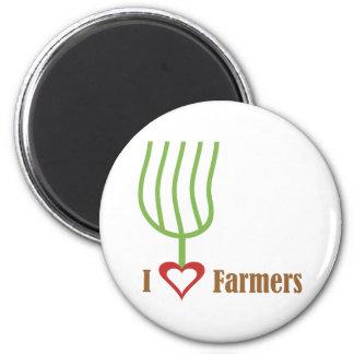 I granjeros del corazón iman para frigorífico