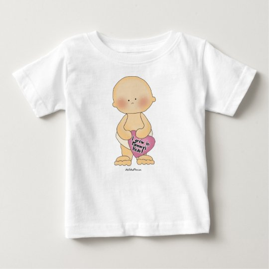 I Grew In Mommy's Heart Baby T-Shirt