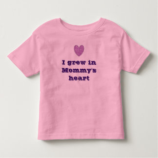 I Grew in Mommy's Heart - Purple Shirts