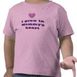 I Grew in Mommy's Heart - Purple Tshirt