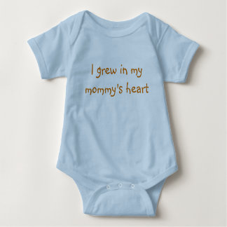 I grew in my mommy's heart baby bodysuit