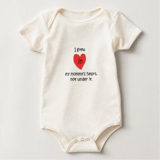 I Grew In My Mommy's Heart Baby Bodysuit