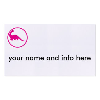 I grew up and became an paleontologist business card