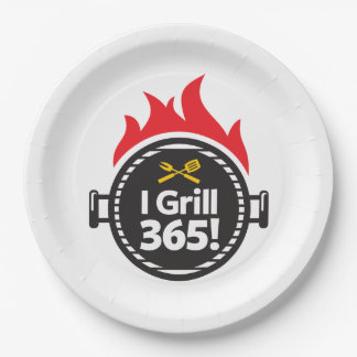 I Grill 365! 9 Inch Paper Plate