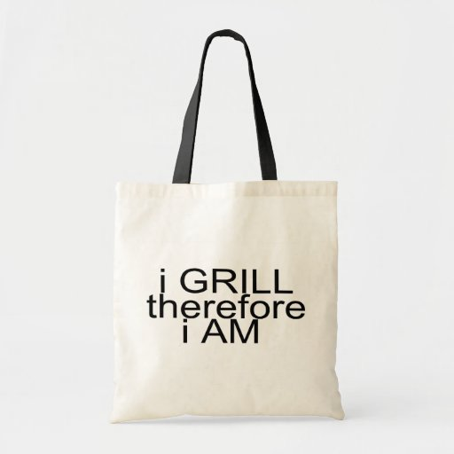 I Grill Therefore I Am Tote Bags