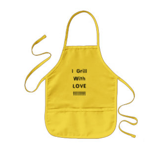 I  Grill With  LOVE  !!!!!!!!! Kids' Apron