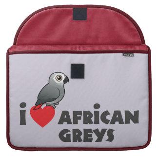 I grises africanos del corazón fundas para macbook pro