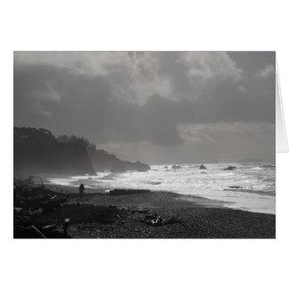 I Grow Old - A Walk Upon The Beach Card