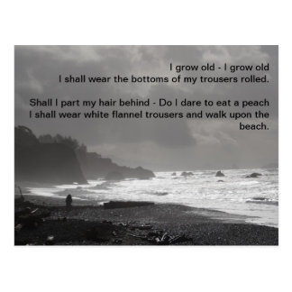I Grow Old - A Walk Upon The Beach Postcard
