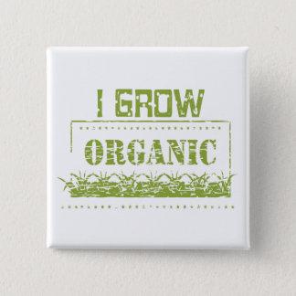 I Grow Organic Earth Day Button