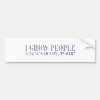 I-grow-people-BOD-VIOLET.png Bumper Sticker