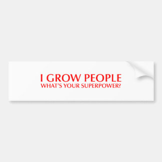 I-grow-people-opt-red.png Bumper Sticker