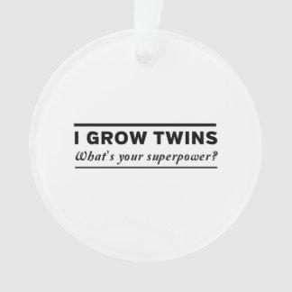 I Grow Twins Ornament