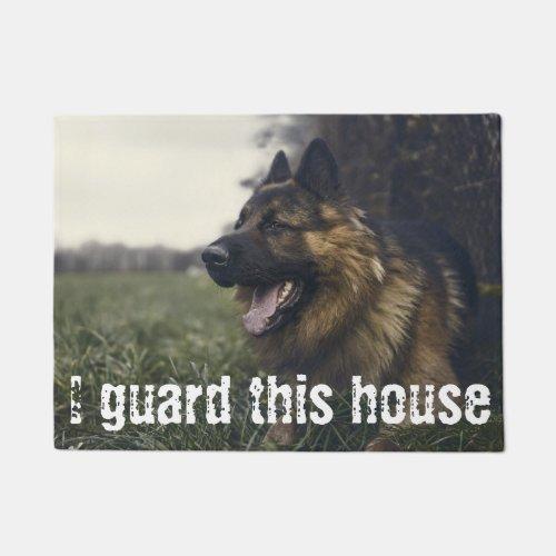I Guard This House Custom Pet Photo Door Mat