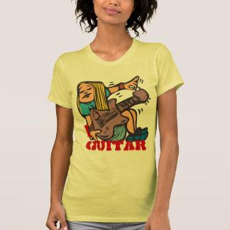 I Guitar - Fun Girl Guitarist tuning guitar T-Shirt