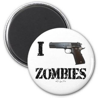 I Gun Zombies 2 2 Inch Round Magnet
