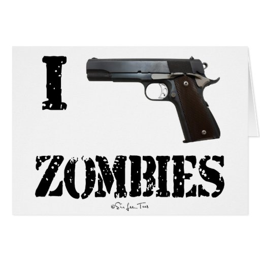 I Gun Zombies 2 Greeting Cards