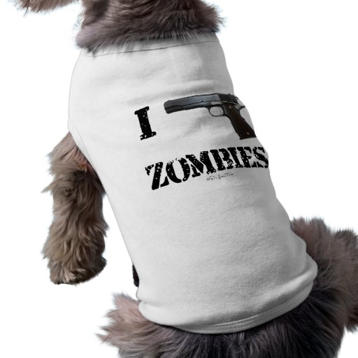 I Gun Zombies 2 Dog Tee Shirt