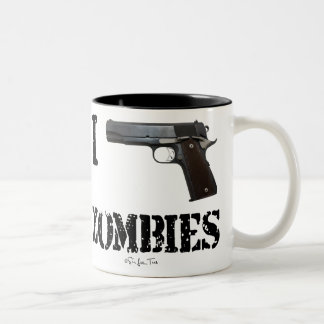 I Gun Zombies 2 Two-Tone Coffee Mug