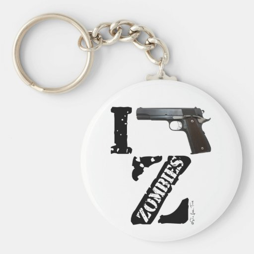 I Gun Zombies Key Chains