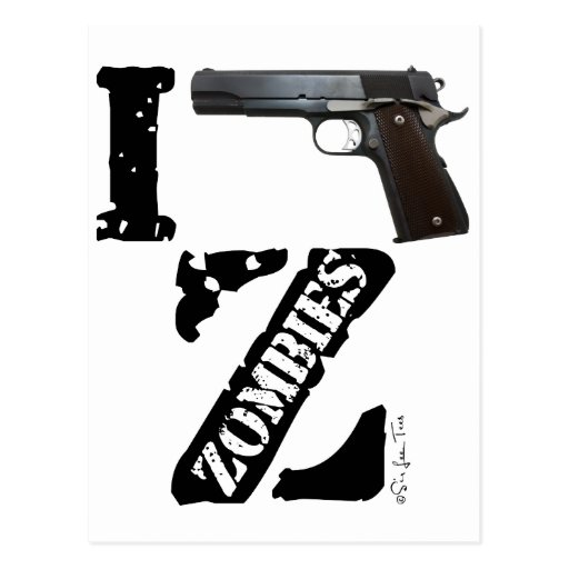 I Gun Zombies Post Card