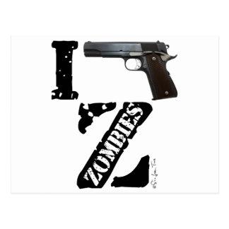 I Gun Zombies Postcard