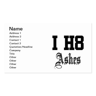 i h8 ashes business card