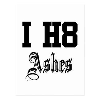 i h8 ashes postcard
