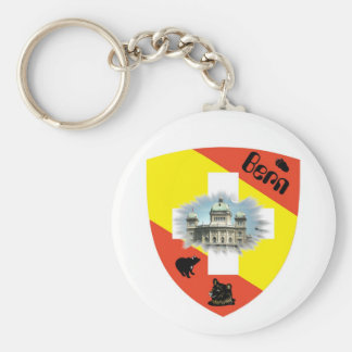 I ha of Bärn gärn key supporters Basic Round Button Keychain