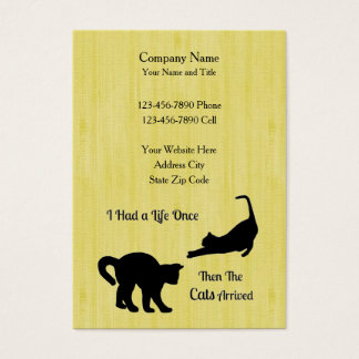I Had A Life Once Cat Business Cards - Vertical