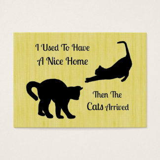 I Had A Nice Home Cat Business Cards