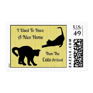 I Had A Nice Home Cat Postage Stamps