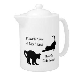I Had A Nice Home Cat Teapot